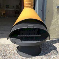 Mid Century Modern Outdoor Fireplace 5
