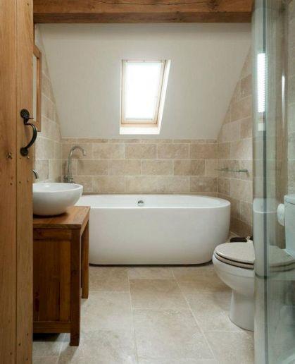 Natural Bathroom Tile Ideas 21