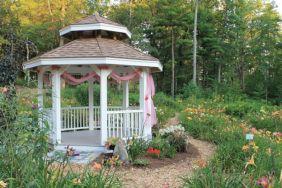 Backyard Flower Garden With Gazebo 10