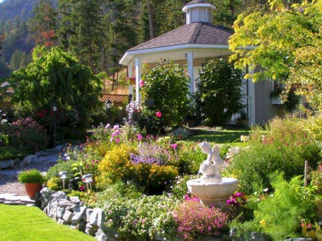 Backyard Flower Garden With Gazebo 4
