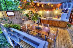 Backyard Living Space Design 5