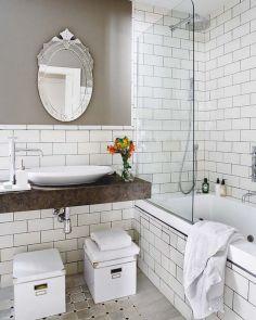 Modern Vintage Bathroom Design 1