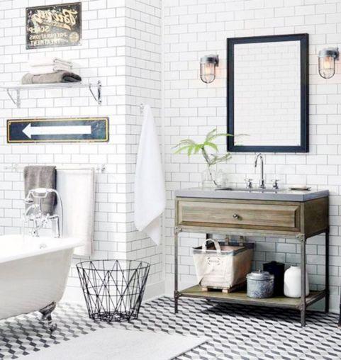 Modern Vintage Bathroom Design 15