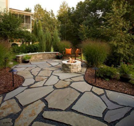 Backyard Patio With Stone Firepit 1