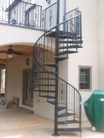 Exterior Spiral Staircase Ideas 1