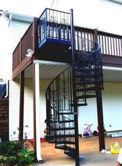 Exterior Spiral Staircase Ideas 18