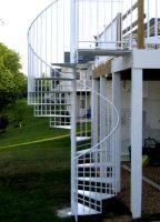 Exterior Spiral Staircase Ideas 5