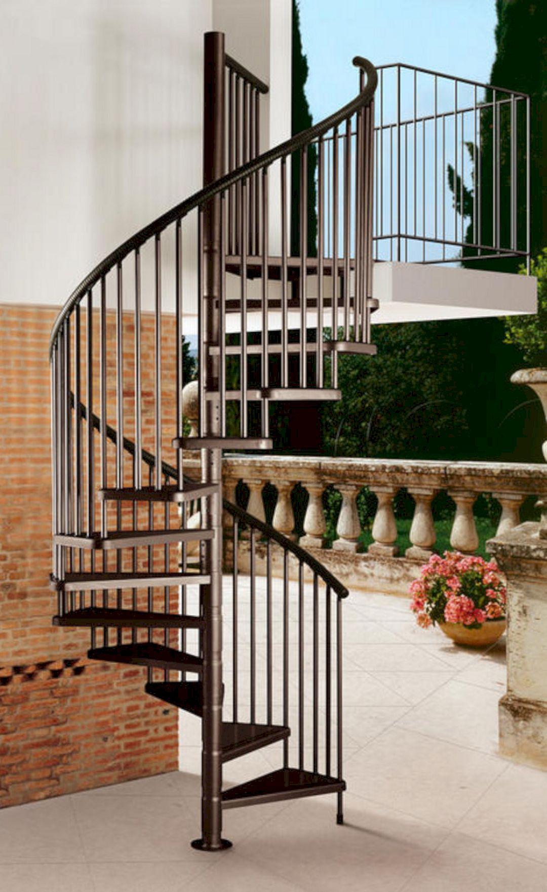 Exterior Spiral Staircase Ideas 8