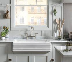 Farmhouse Sinks Design For Kitchen 14