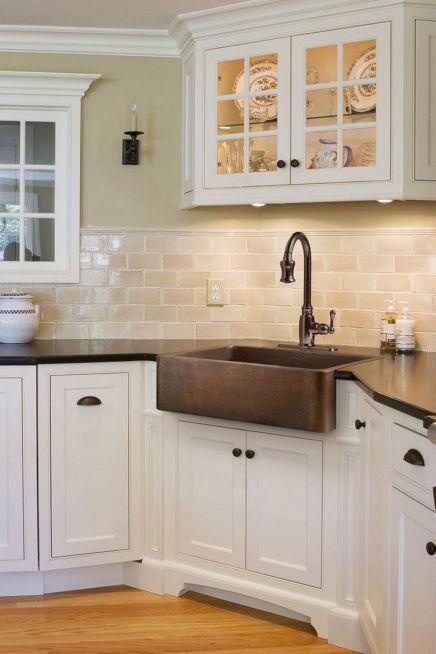 Farmhouse Sinks Design For Kitchen 24