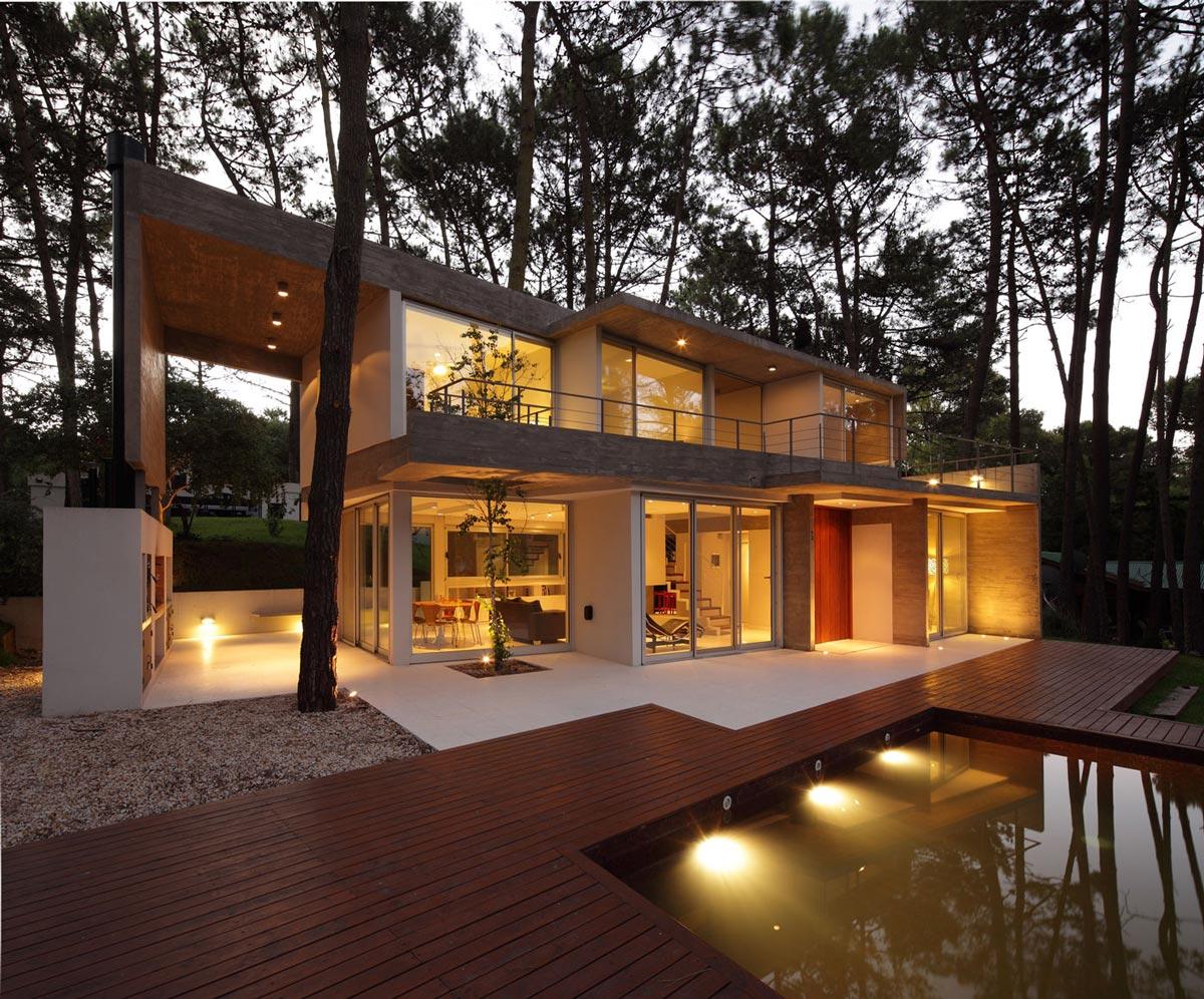 Modern Concrete House In Cariló, Argentina