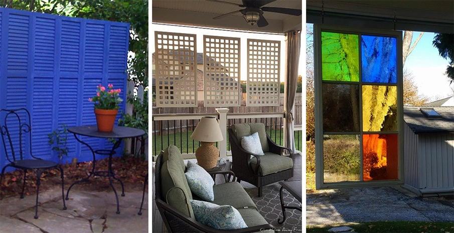 20 Outdoor Patio Privacy Screen Ideas & DIY Tutorials
