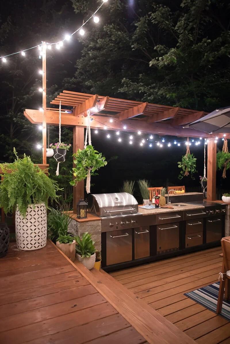 40 outdoor kitchen pergola ideas for