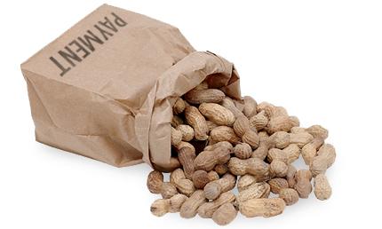 Advertising for Peanuts Bag