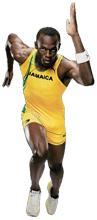 Usain Bolt Running Puma
