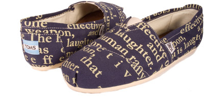 TOMS Shoes with Words Design
