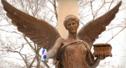 Benny Red Bull Gives you Angel Wings - Statue