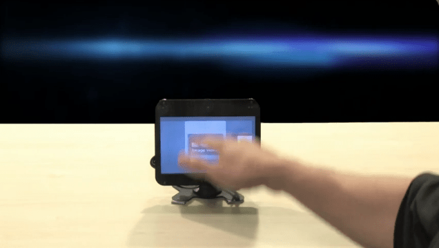 Touchless Gesture User Interface for Tablets