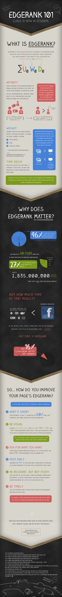 Facebook Newsfeed Algorithm - How Edgerank Works Infographic