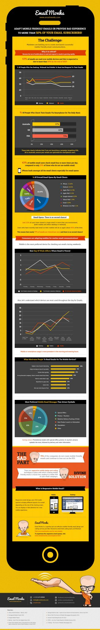 Importance of Mobile Email Infographic