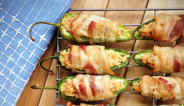 Paleo Bacon-Wrapped Salmon Jalapeno Poppers | GrokGrub.com