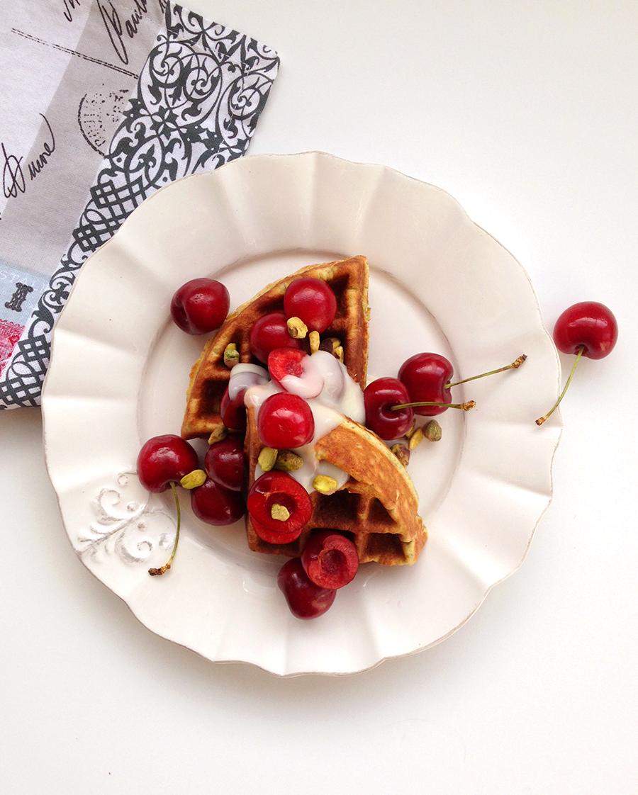 Pistachio Waffles (grain-free, gluten-free, paleo) | Fresh Planet Flavor