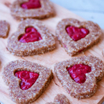 Raw Linzer Cookies - 100 Paleo Valentine's Day Recipes (breakfast, drinks, appetizers, entrées and desserts!) | GrokGrub.com
