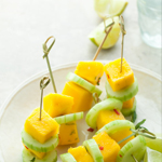 Spicy Mango Cucumber Skewers: 75 Healthy Kid-Friendly Snacks (allergy-friendly for every occasion) | GrokGrub.com