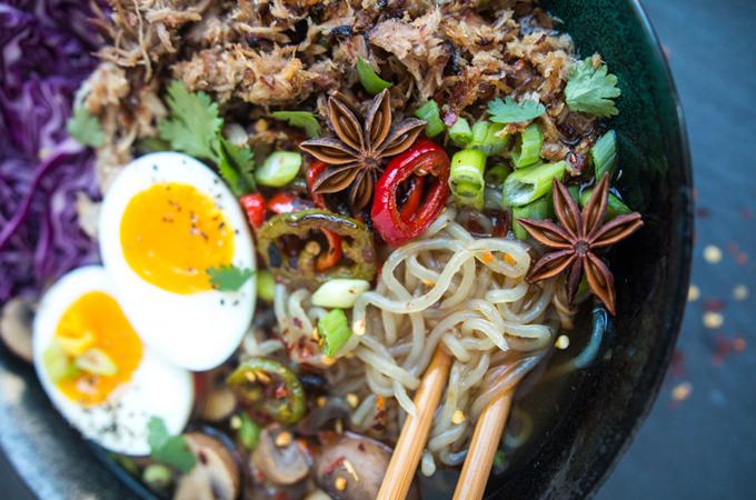 Slow-Cooker Spiced Pork Ramen (with shirataki noodles) | Fresh Planet Flavor