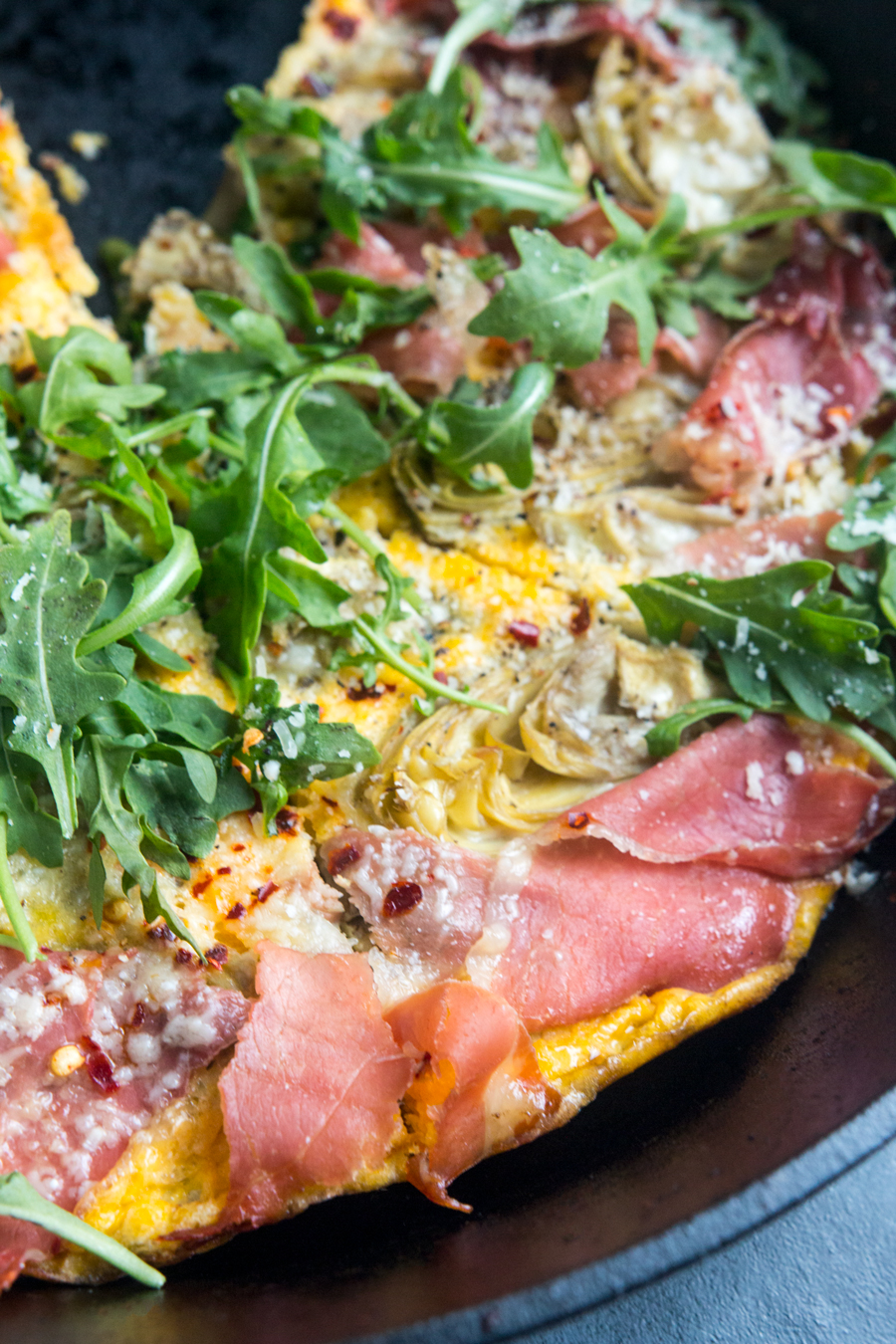This simple Artichoke Prosciutto Frittata is a flavorful high-protein meal that can be made in advance.