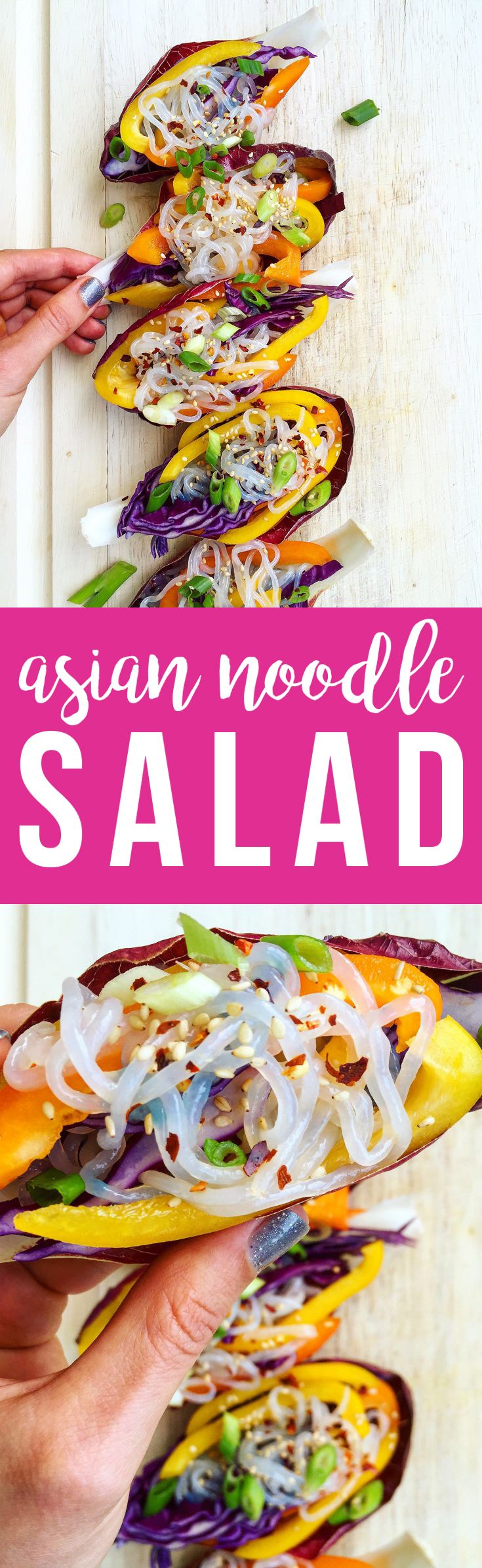 This simple, refreshing Asian Noodle Salad is full of fresh vegetables in a light sesame sauce.