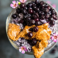 Wild Blueberry Coconut Chia Overnight N'Oatmeal - Almond Butter