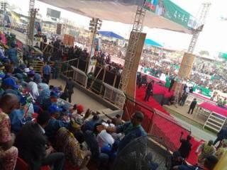 Crowd Disorganize Buhari Campaign In Ogun Sate Today