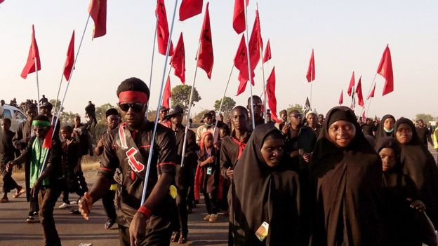 Shiites in a procession