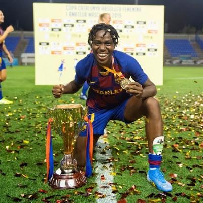 Asisat Oshoala of Barcelona Copa Catalunya 2