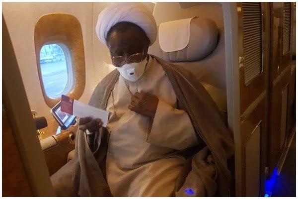 El Zakzaky aboard flight to India