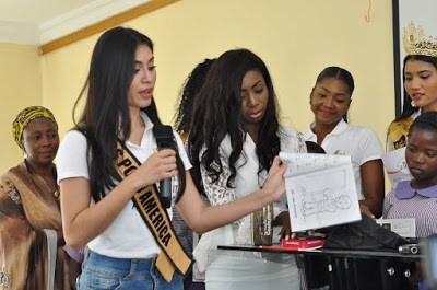 Photos: Miss Polo International Donates School Materials To National Orientation Agency