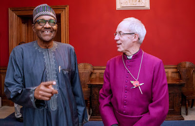 Archbishop of Canterbury Most Revd Justin Portal Welby with Buhari