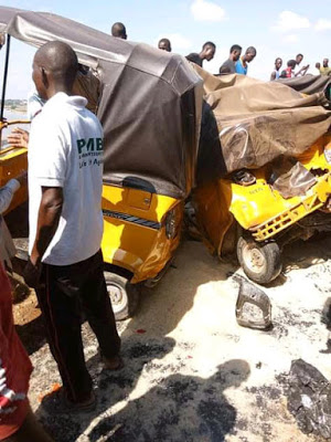 Eight injured as truck runs into commercial motorcycles783909360066049387