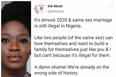 It's A Shame that Gay Marriage Is Still Illegal In Nigeria' – Kiki Mordi