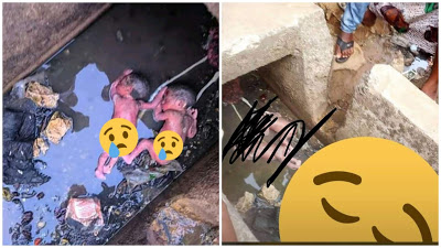 Sad As Abandoned Day-old Twins Found Dead In The Gutter