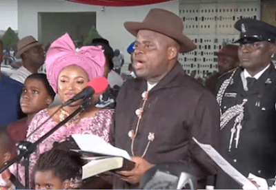 BREAKING: Douye Diri Sworn In As Bayelsa State Governor