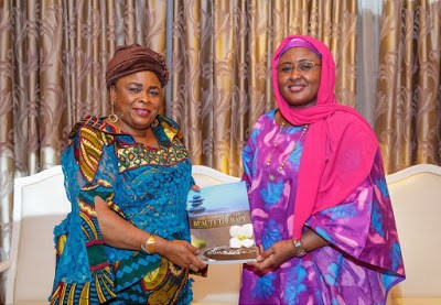 PHOTOS: Patience Jonathan Visits Aisha Buhari At Aso Rock