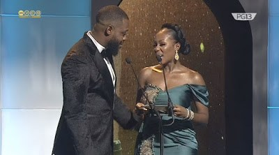 See Beautiful Photos As Celebrities Shine At AMVCA 7 Red Carpet