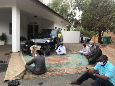 PHOTOS: Remains Of Abba Kyari Arrives Abuja, Set To Be Buried Today