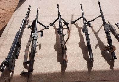 See Cache Of Arms Recovered From Boko Haram/ISWAP Terrorists