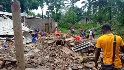 PHOTOS: Many Injured As Rainstorm Wreaks Havoc In Benue