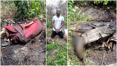 VIDEO: 3 Decomposed Bodies Of Uniport Students Killed, Buried In Shallow Grave Recovered By Police