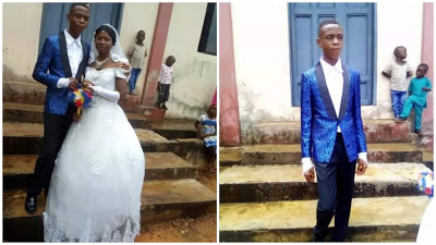 PHOTOS: 15-year-old Boy Gets Married To A 22-year-old Lady