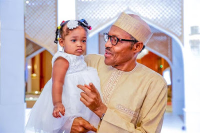 Lovely Photos: Buhari Celebrated Children's Day In Style